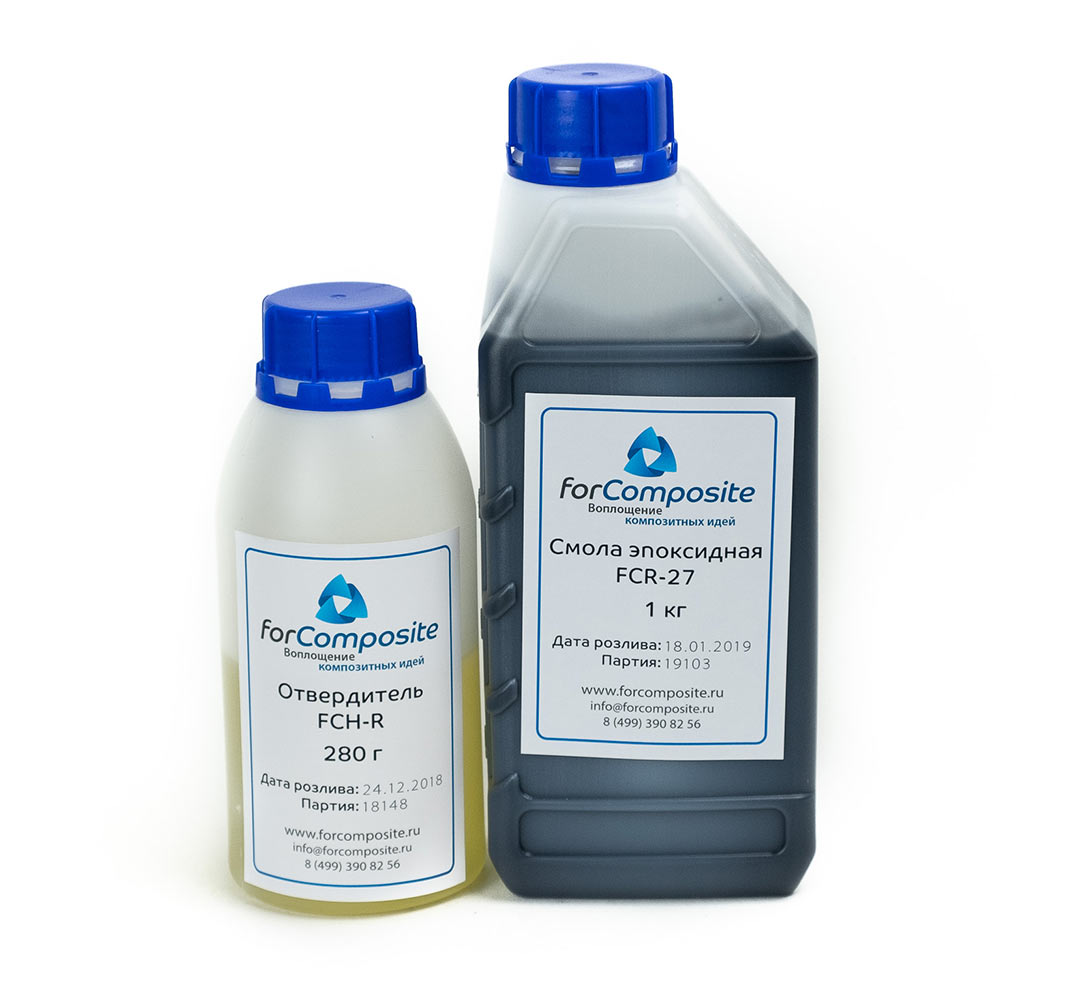 Эпоксидная смола FCR-27 c отвердителем FCH-R, 1,28 кг